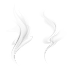 Vector smoke isolated on white background