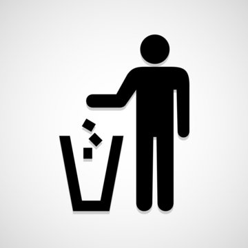 Trash bin icon great for any use. Vector EPS10.