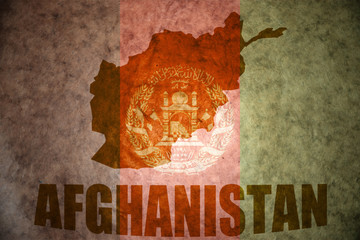 afghanistan vintage map