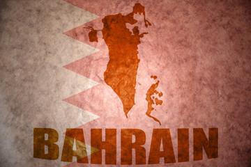 bahrain vintage map