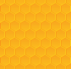 vector seamless pattern with honeycombs
