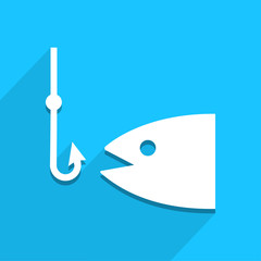 Fishing icon great for any use. Vector EPS10.