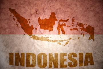 Indonesia vintage map