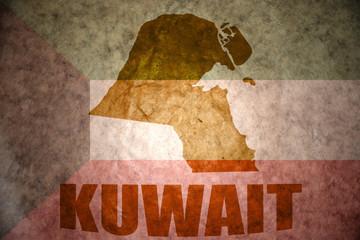 kuwait vintage map