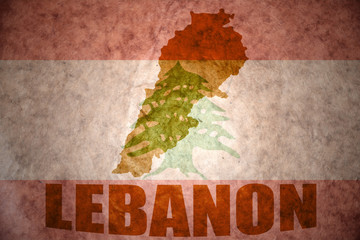 lebanon vintage map