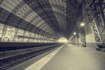 Empty terminal railway station.