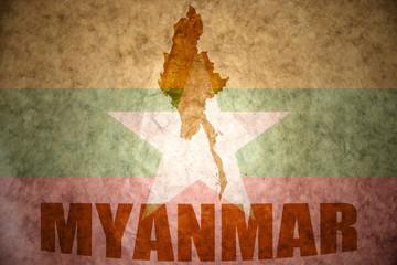 myanmar vintage map
