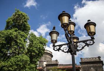 street lamp in Santo Domingo (Dominican Republic)