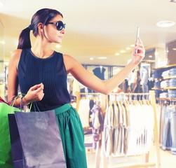 Store clothing selfie