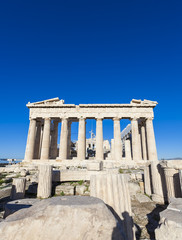 arthenon temple on the Acropolis of Athens,Greece