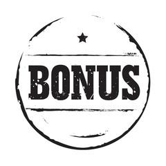 Black vector circles grunge stamp BONUS