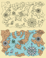 Pirate map of unknown lands