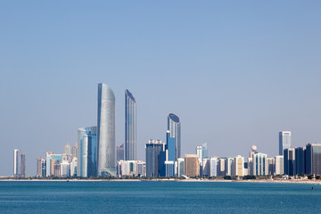 Skyline of Abu Dhabi, United Arab Emirates