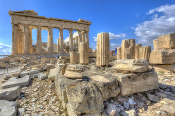 Stores photo Athènes Parthenon temple on the Acropolis of Athens,Greece