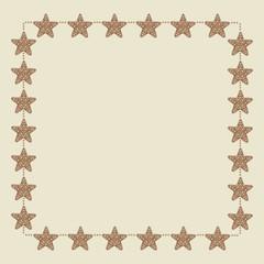 Christmas star border
