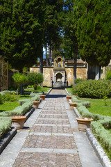 Beautiful gardens of an Italian Villa