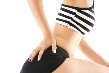 다이어트컨셉 신체 부분 컷