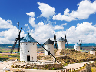 Foto op Canvas Molens Group of windmills
