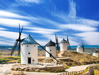 Canvas Prints Mills Group of windmills