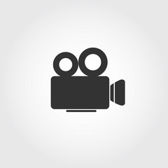 video camera icon, flat design