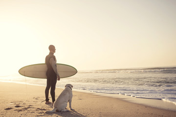 Surfist and his Dog