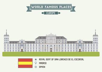 Royal Seat of San Lorenzo de El Escorial. Madrid, Spain