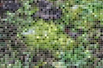 Wabenmuster, Mosaik in grün und grau