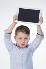 portrait of young kid on isolated