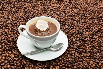 Kaffee und Milch Liquid Art
