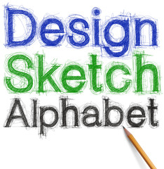 sketch letters and numbers with pencil new