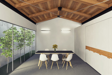 Dining Room With Inside Garden