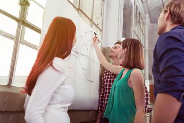 junge kollegen planen ein projekt