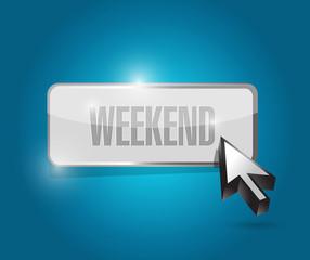 weekend button illustration design