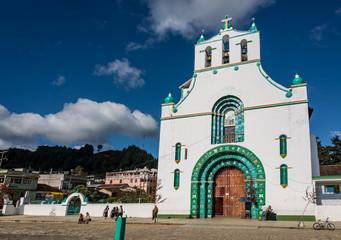 SAN JUAN CHAMULA CHURCH, CHIAPAS, MEXICO - DECEMBER 14, 2015: It