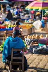 Women at San Juan Chamula, inhabited by indigenous Tzotzil Maya