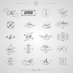 Catchwords Decorative Set