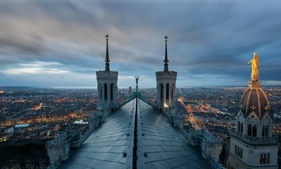 Lyon depuis les Toits de Notre-Dame de Fourvière