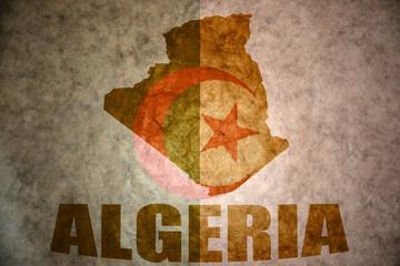 algeria vintage map