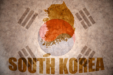 south korea vintage map