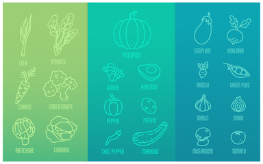 vegetable icons for a healthier life