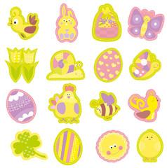 Easter elements set / vector