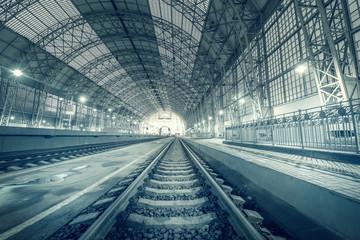 Empty terminal railway station.