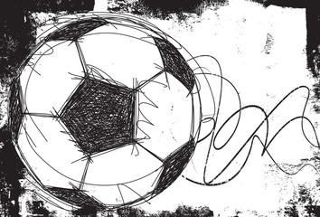 Sketchy Soccer ball background