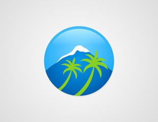 mountain palm tree logo