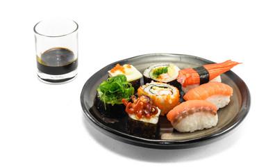 sushi on dish