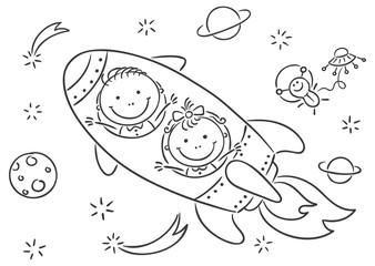 Children exploring space