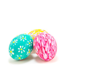 Easter eggs isolate on white background.