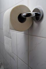 toilet paper on holder