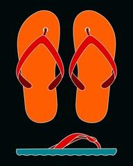 womens flip-flop collage