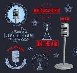 Radio broadcasting design elements. EPS10.